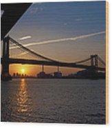 New York City Sunrise Wood Print
