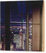 New York City Through A Window Wood Print