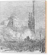 New York: Fire, 1853 Wood Print