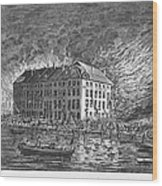 New York: Fire Of 1835 Wood Print