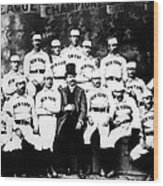 New York Giants, Baseball Team, 1889 Wood Print