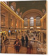 New York Grand Central Wood Print