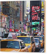 New York Gridlock Wood Print