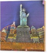 New York In Las Vegas Wood Print