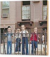 New York Kids 1975 Wood Print