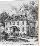 New York Mansion, 1748 Wood Print