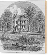 New York: Mansion, 1760 Wood Print