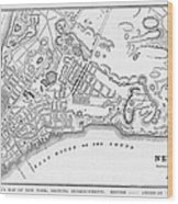 New York: Maps Wood Print