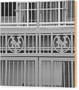 New York Mets Jail Wood Print by Rob Hans