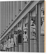 New York Mets Of Old  In Black And White Wood Print
