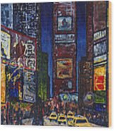 New York Nights Wood Print