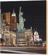 New York Ny Las Vegas Wood Print