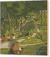 New York Park Wood Print