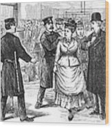 New York Police Raid, 1875 Wood Print