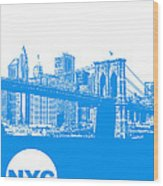 New York Poster Wood Print
