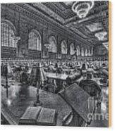 New York Public Library Main Reading Room Vi Wood Print