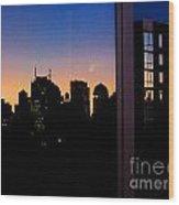 New York Reflections Wood Print