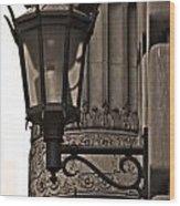 New York Sconces Wood Print