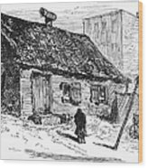 New York: Shanty, 1875 Wood Print