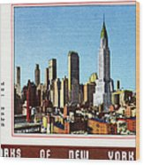 New York: Skyscrapers Wood Print