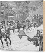 New York: Snowstorm, 1887 Wood Print