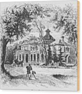 New York State: House Wood Print