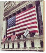 New York Stock Exchange/wall Street Wood Print