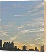New York Sunset 2 Wood Print