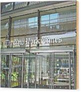 New York Times Reflection Wood Print