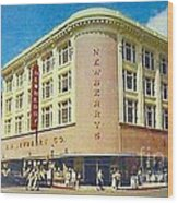 Newberry's Department Store In El Paso Tx In The 1950's Wood Print