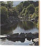 Newcastle, Shimna River, Co Down Wood Print
