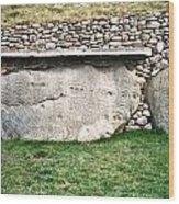 Newgrange Runes Wood Print