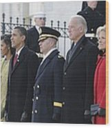 Newly Inaugurated President Obama Wood Print by Everett
