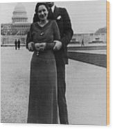 Newlywed Lyndon And Lady Bird Johnson Wood Print by Everett