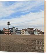 Newport Beach Oceanfront Houses Wood Print