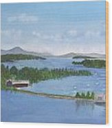 Newport Vermont Aerial Wood Print