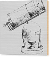 Newton's Own Drawing Of His Reflecting Telescope Wood Print