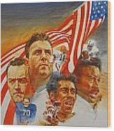 Nfl Hall Of Fame 1984 Game Day Cover Wood Print