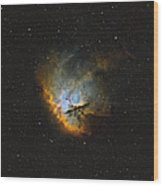 Ngc 281, The Pacman Nebula Wood Print by Rolf Geissinger