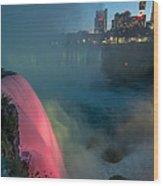 Niagara At Night Wood Print