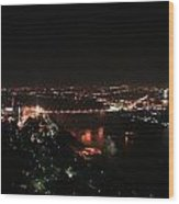 Niagara At Night Wood Print