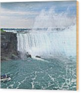 Niagara Falls And The Bubbles Wood Print