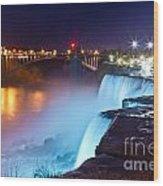 Niagara Falls At Night 2 Wood Print