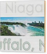Niagara Falls Day Panorama Wood Print