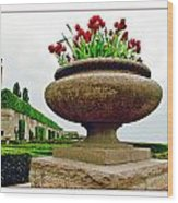 Niagara Falls Floral Urn Wood Print