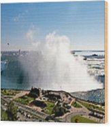 Niagara Falls From Above Wood Print
