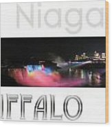 Niagara Falls Postcard Wood Print