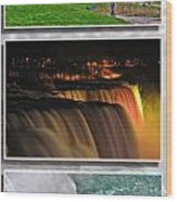 Niagara Falls Usa Triptych Series Wood Print