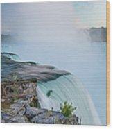 Niagara Mist Wood Print