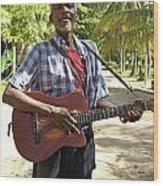 Nicaraguan Musician Big Corn Island Nicaragua Wood Print